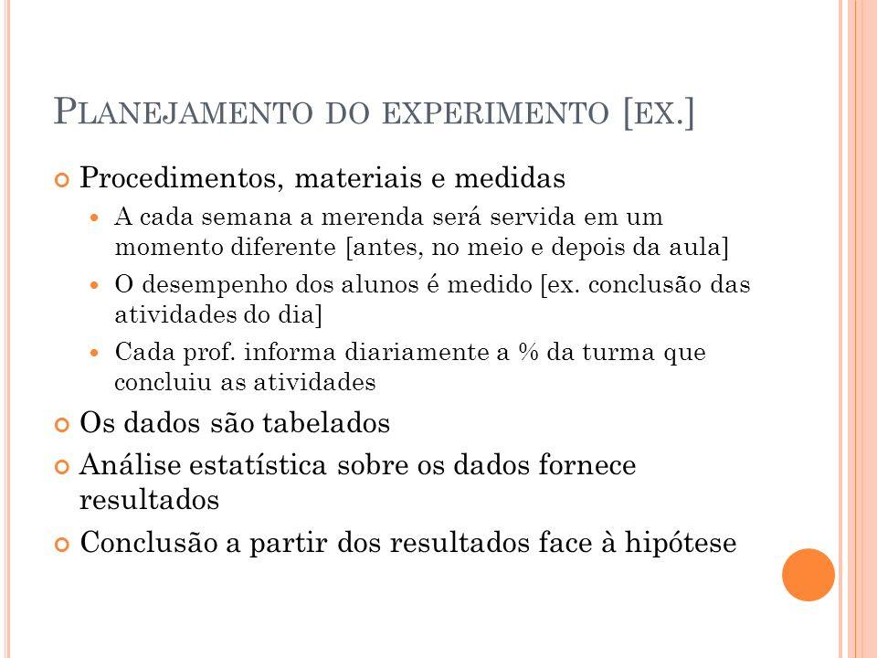 Planejamento do experimento [ex.]